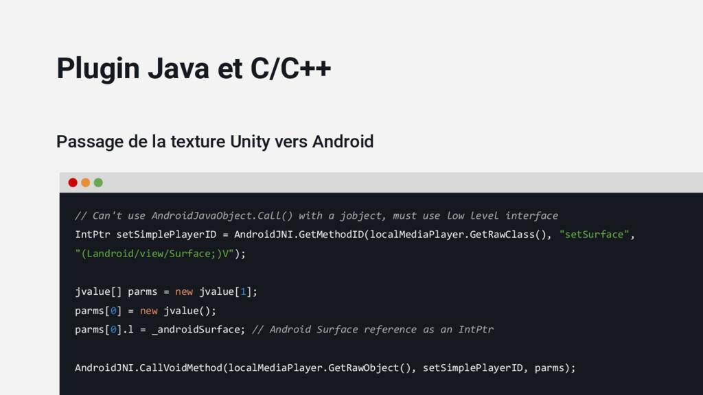 Passage de la texture Unity vers Android // Can...