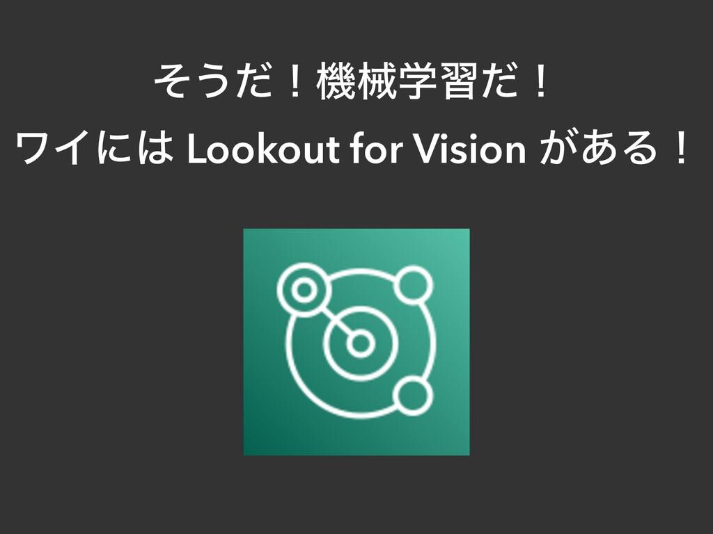 ͦ͏ͩʂػցֶशͩʂ   ϫΠʹ Lookout for Vision ͕͋Δʂ