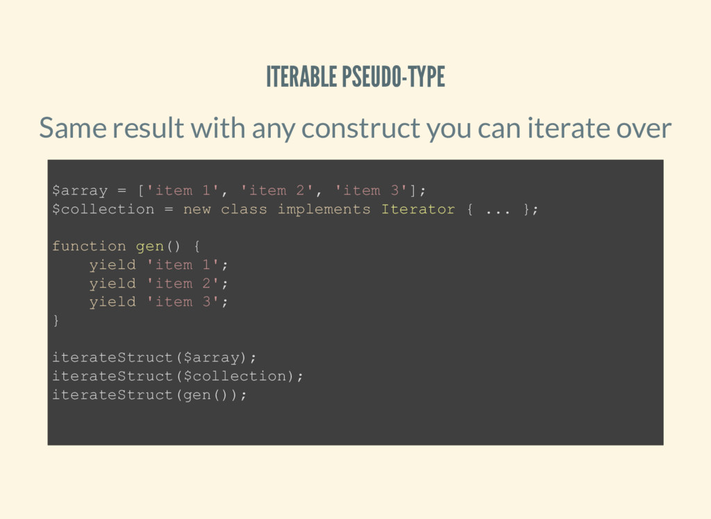 ITERABLE PSEUDO-TYPE Same result with any const...