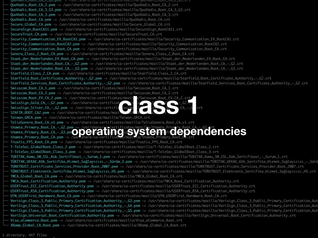 class 1 operating system dependencies