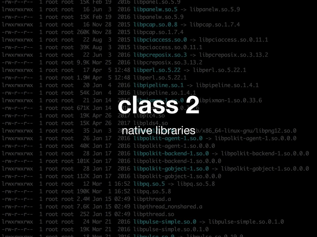 class 2 native libraries