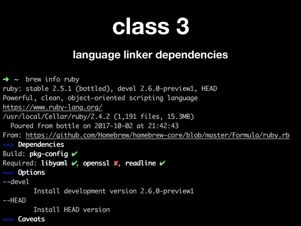 class 3 language linker dependencies