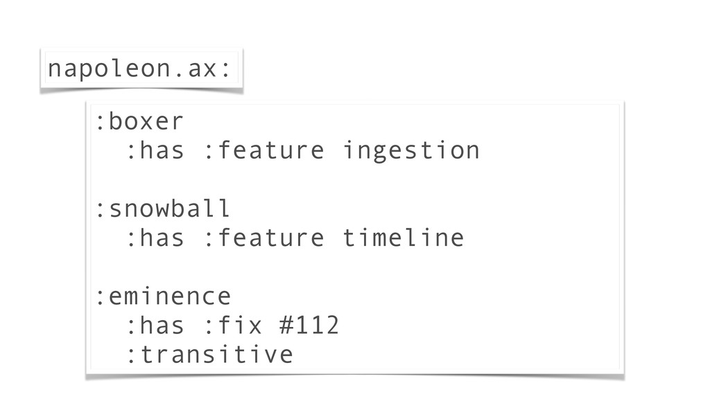 :boxer :has :feature ingestion ! :snowball :has...