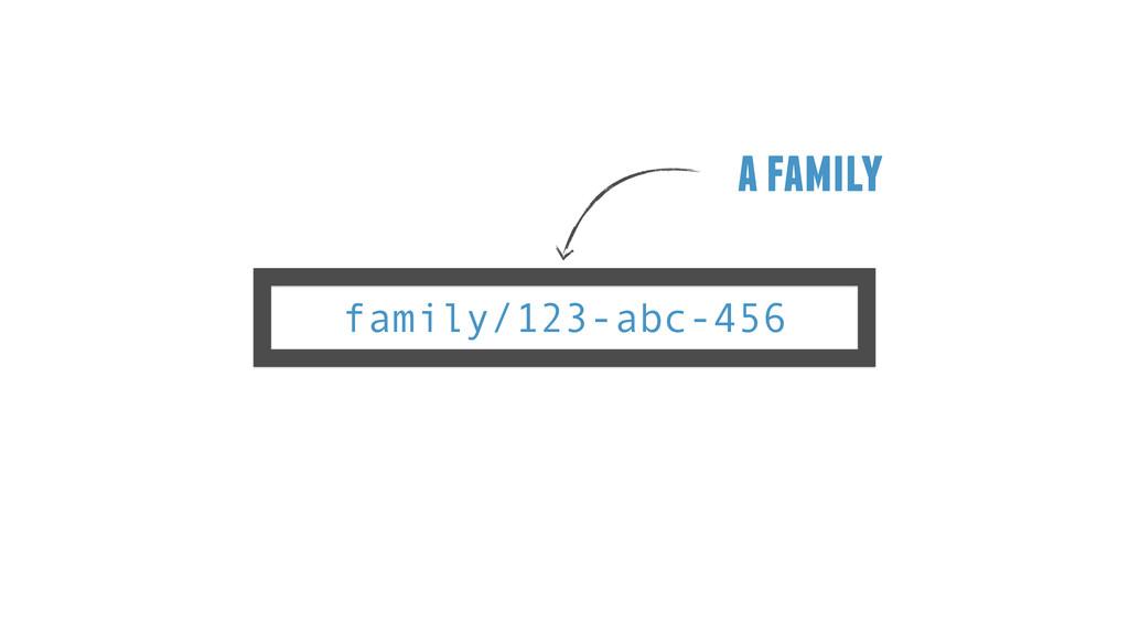 family/123-abc-456 a family