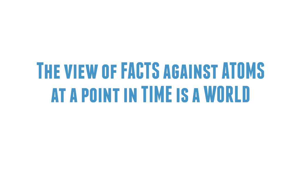 The view of FACTS against ATOMS at a point in T...