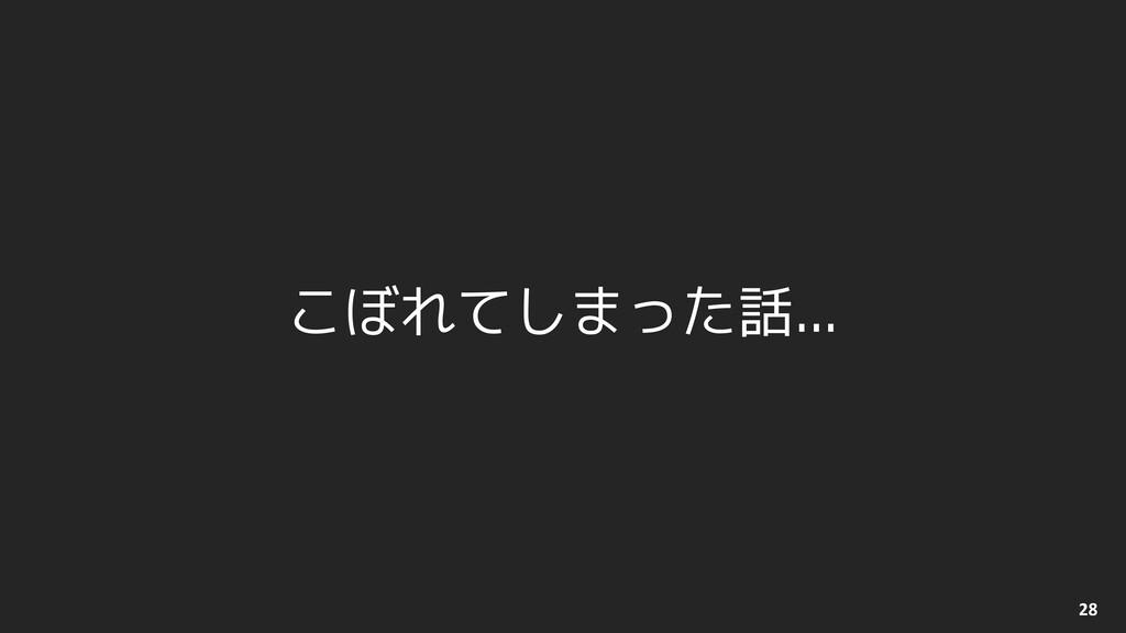 © 2012-2021 BASE, Inc. 28 こぼれてしまった話...