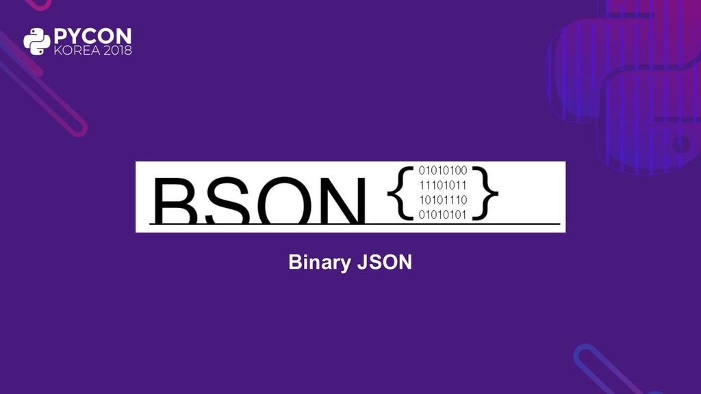 Binary JSON