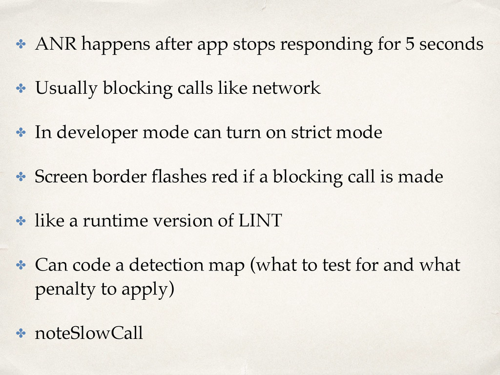 ✤ ANR happens after app stops responding for 5 ...