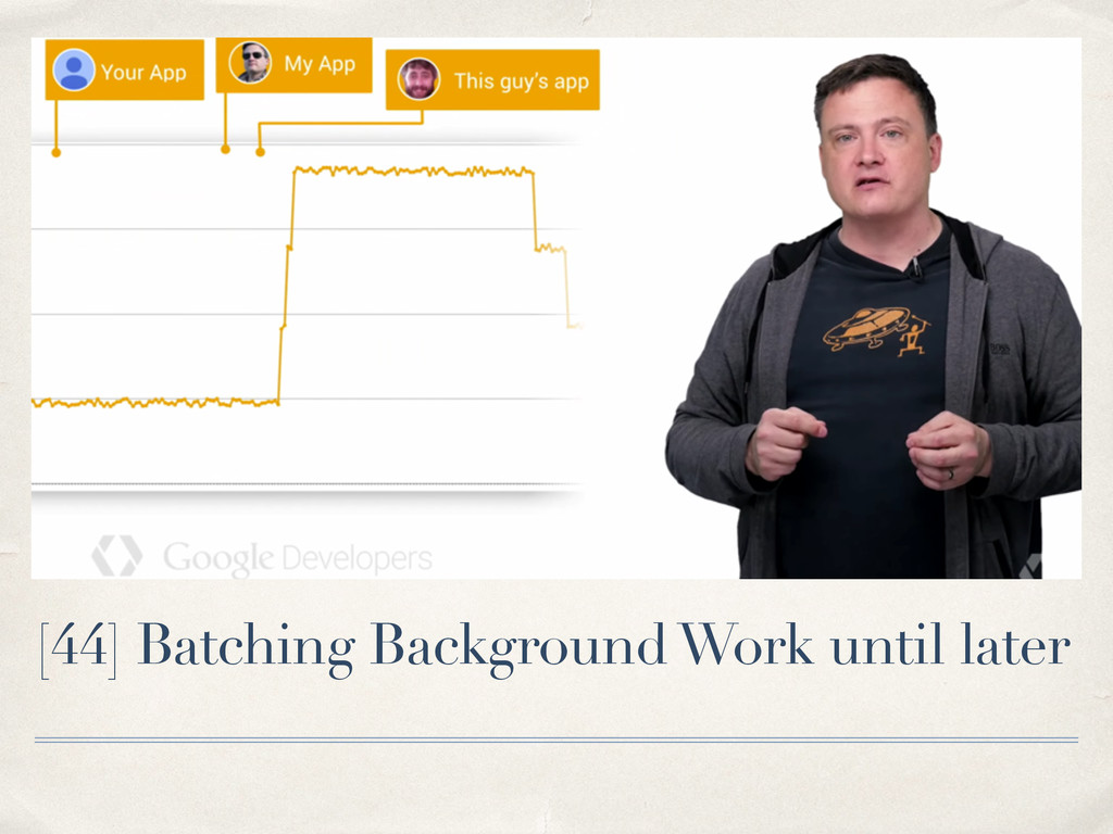 [44] Batching Background Work until later