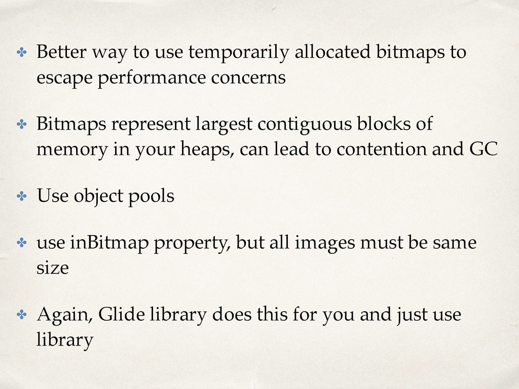 ✤ Better way to use temporarily allocated bitma...
