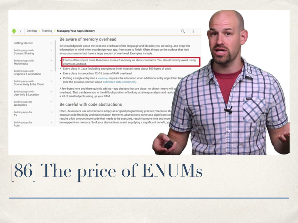[86] The price of ENUMs