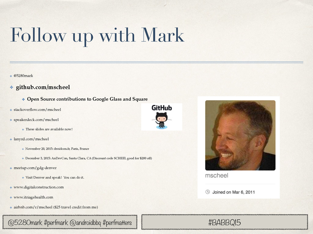 @5280mark #perfmark @androidbbq #perfmatters Fo...
