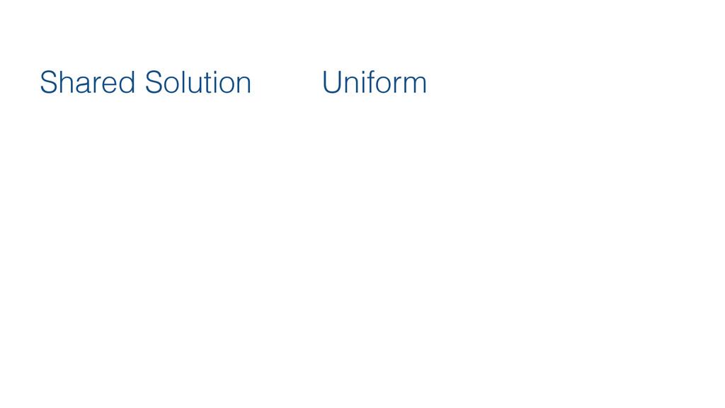 Shared Solution Uniform
