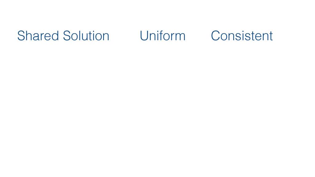 Shared Solution Uniform Consistent