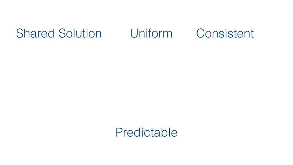 Shared Solution Uniform Consistent Predictable
