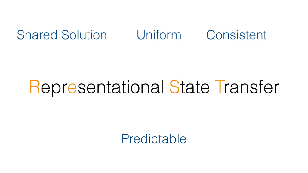 Representational State Transfer Shared Solution...