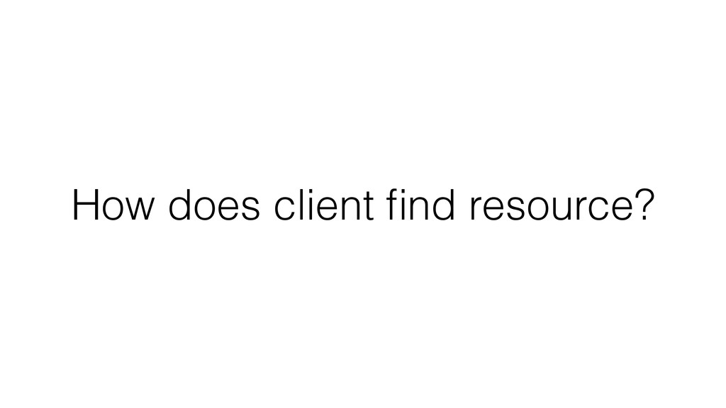 How does client find resource?