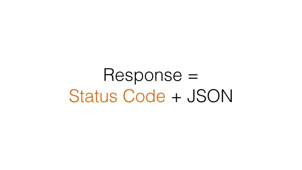 Response = Status Code + JSON