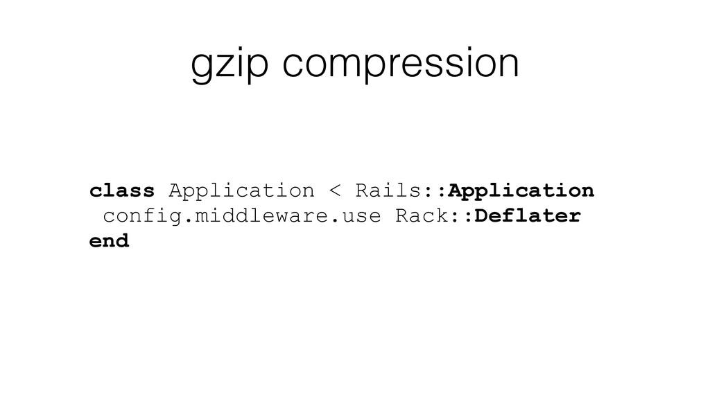 gzip compression class Application < Rails::App...