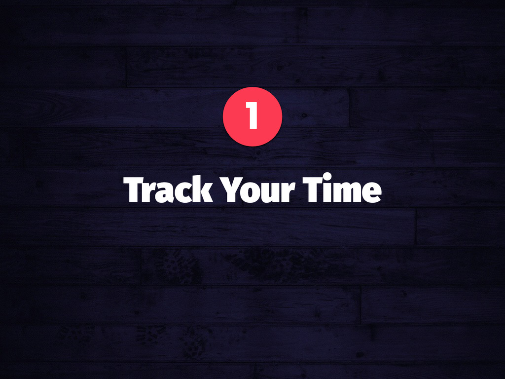 1 Track Your Time