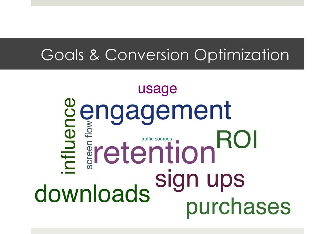 Goals & Conversion Optimization