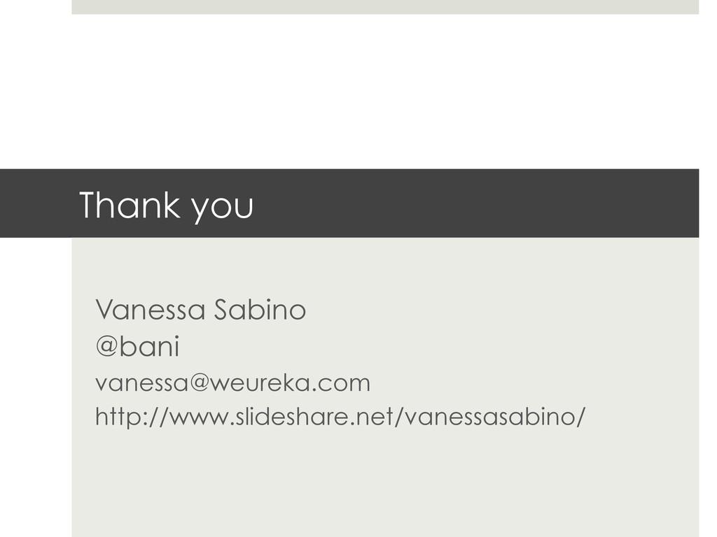 Thank you Vanessa Sabino @bani vanessa@weureka....
