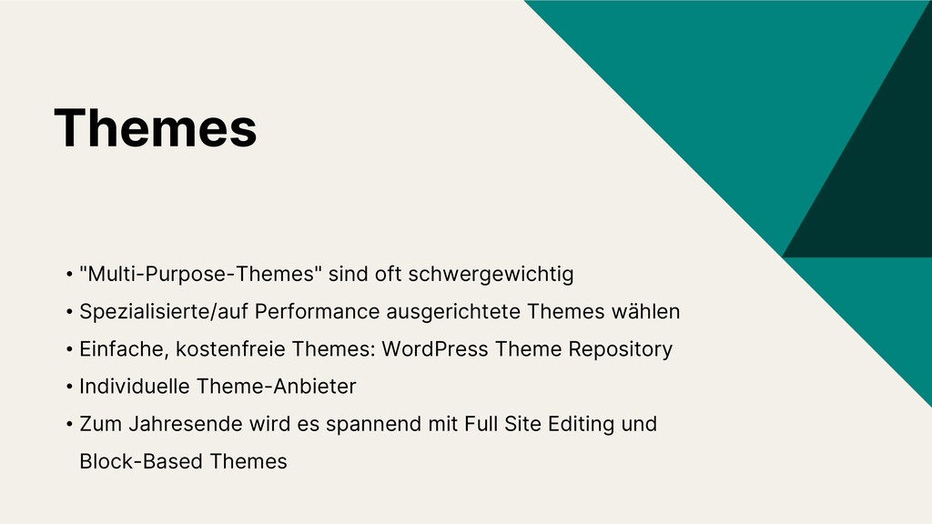 "Themes • ""Multi-Purpose-Themes"" sind oft schwer..."
