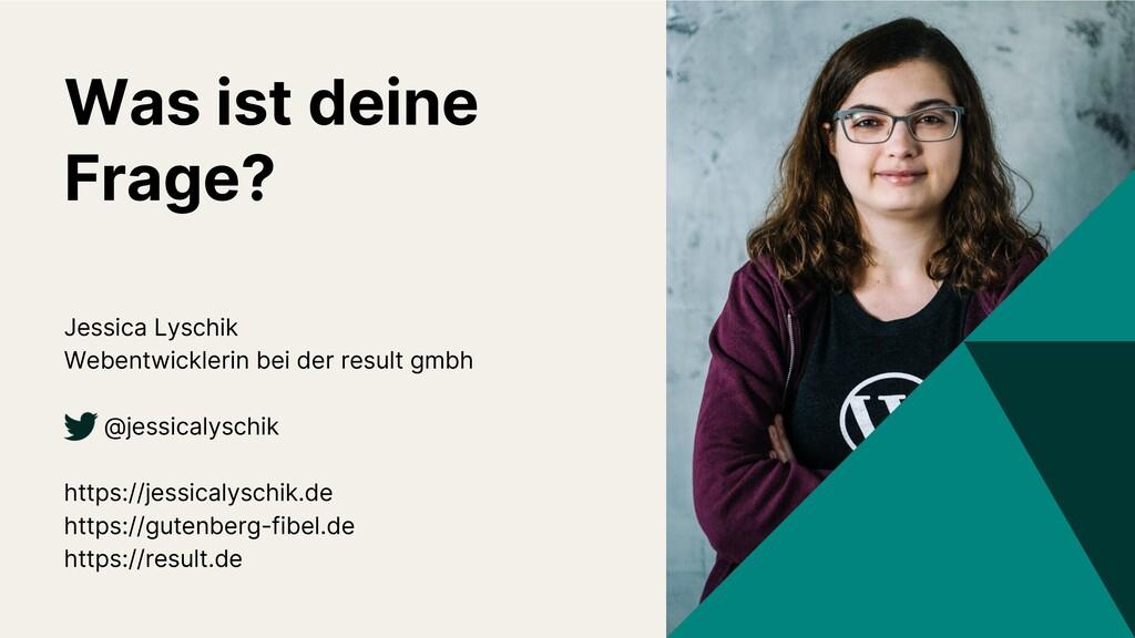Jessica Lyschik Webentwicklerin bei der result ...