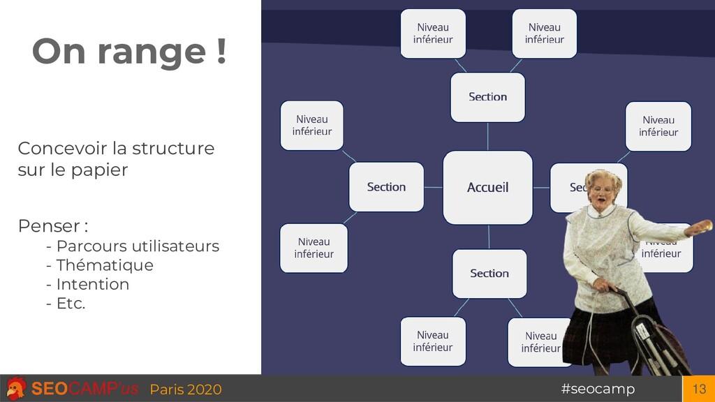 #seocamp Paris 2020 On range ! 13 Concevoir la ...