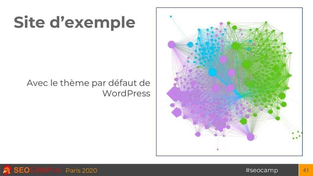 #seocamp Paris 2020 Site d'exemple 41 Avec le t...