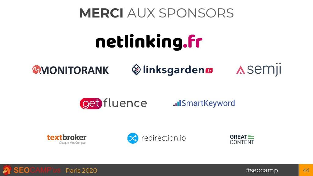 MERCI AUX SPONSORS #seocamp Paris 2020 44