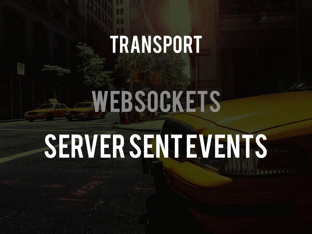 Websockets Server Sent Events Transport