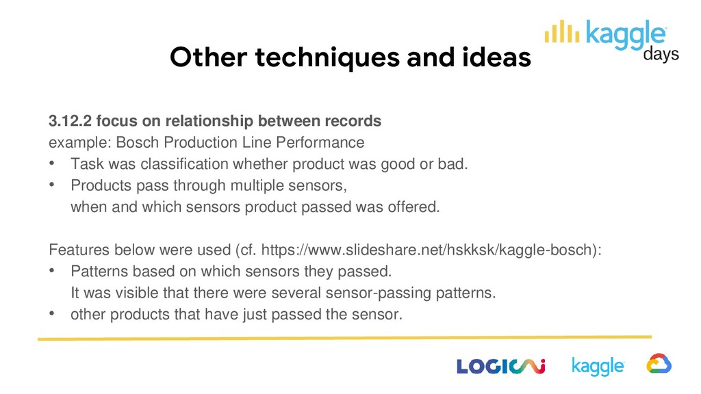 Other techniques and ideas 3.12.2 focus on rela...