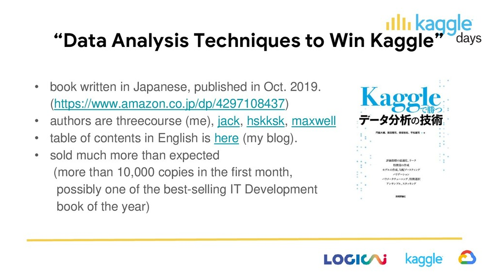 """""""Data Analysis Techniques to Win Kaggle"""" • book..."""