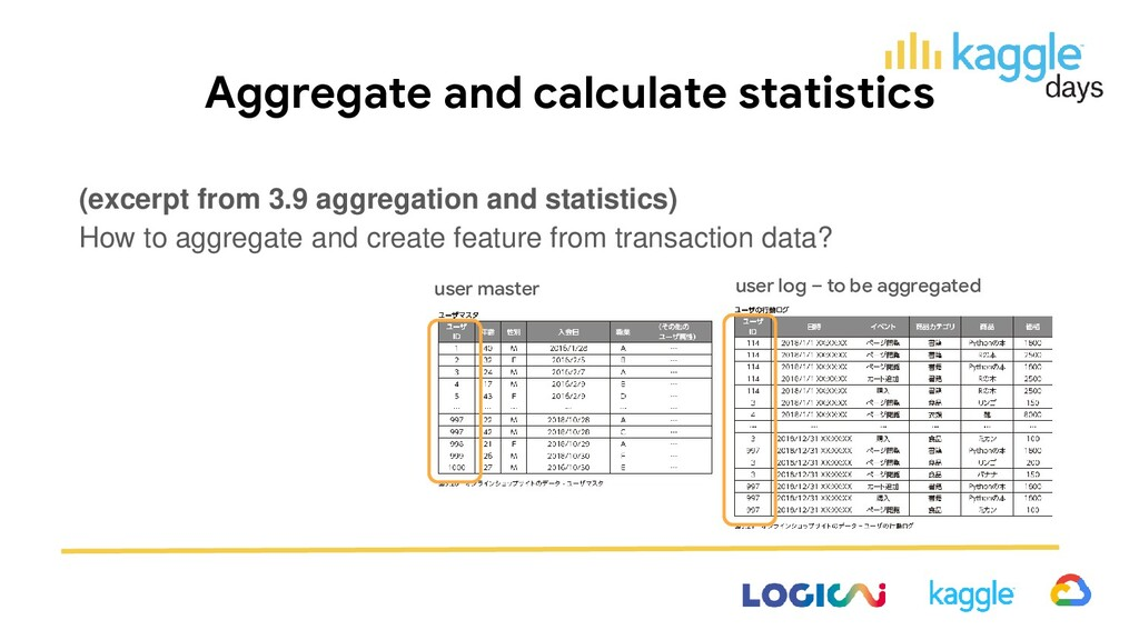 Aggregate and calculate statistics (excerpt fro...