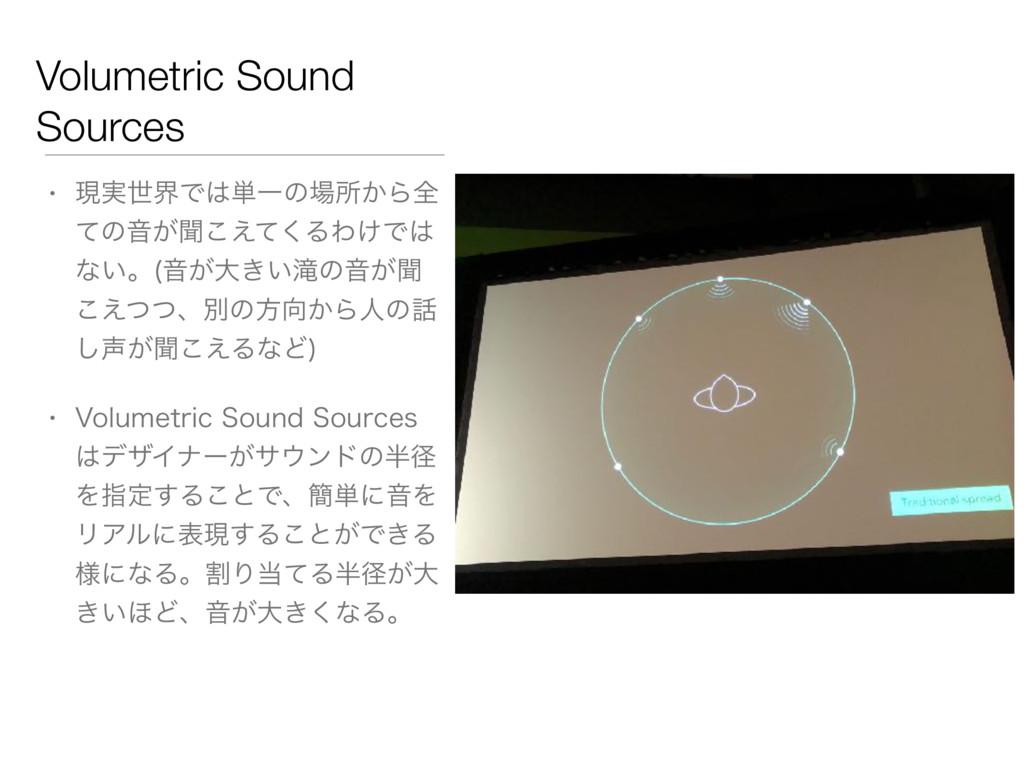 Volumetric Sound Sources • ݱ࣮ੈքͰ୯Ұͷॴ͔Βશ ͯͷԻ͕ฉ...