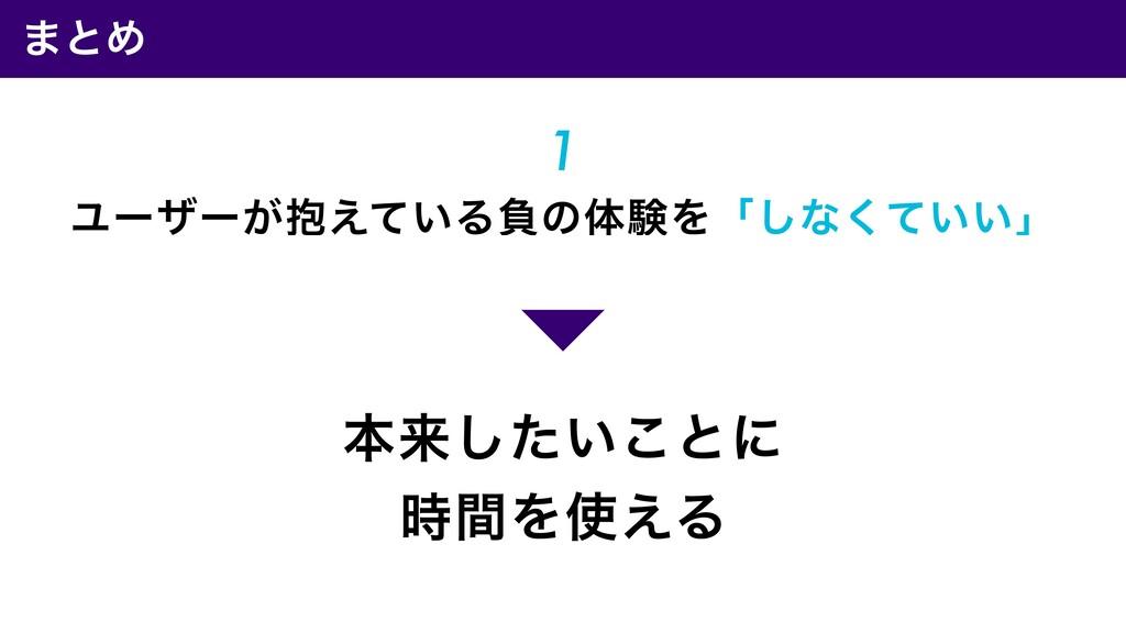 ·ͱΊ ຊདྷ͍ͨ͜͠ͱʹ ؒΛ͑Δ 1 Ϣʔβʔ๊͕͍͑ͯΔෛͷମݧΛʮ͠ͳ͍͍ͯ͘ʯ