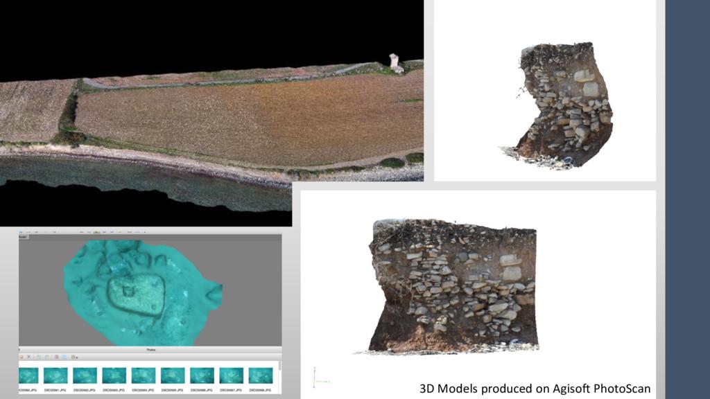 3D Models produced on Agisoft PhotoScan