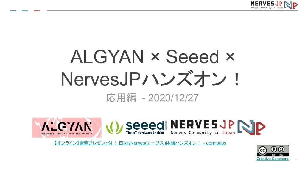 応用編 - 2020/12/27 ALGYAN × Seeed × NervesJPハンズオン...