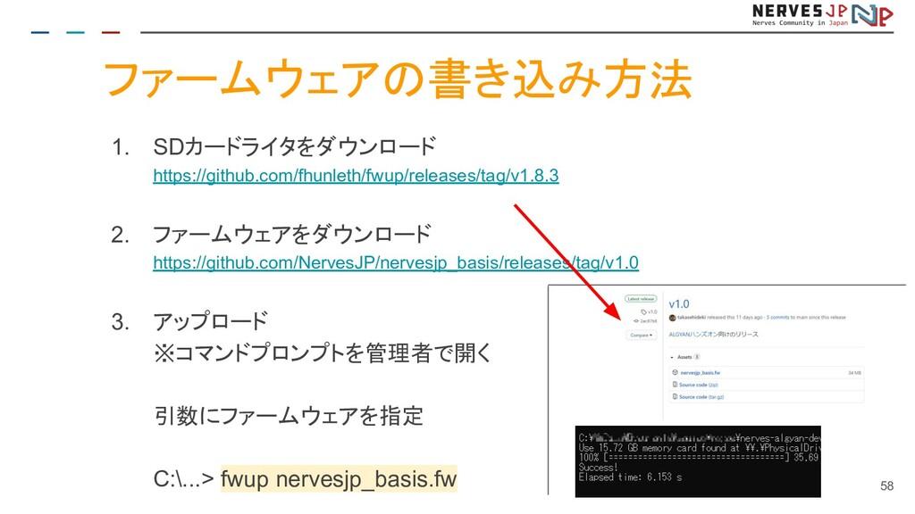 ファームウェアの書き込み方法 1. SDカードライタをダウンロード https://githu...
