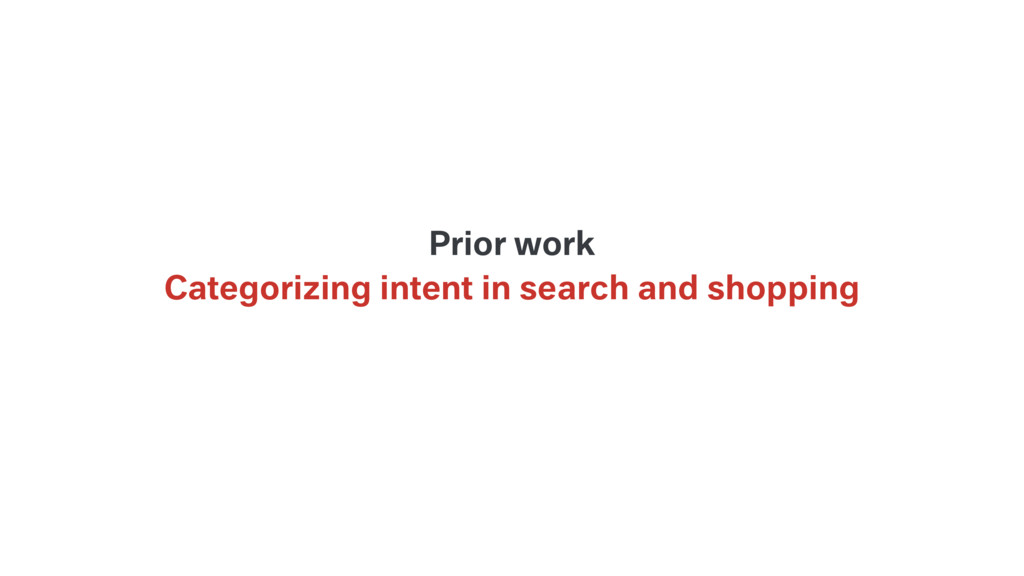 Categorizing intent in search and shopping Prio...