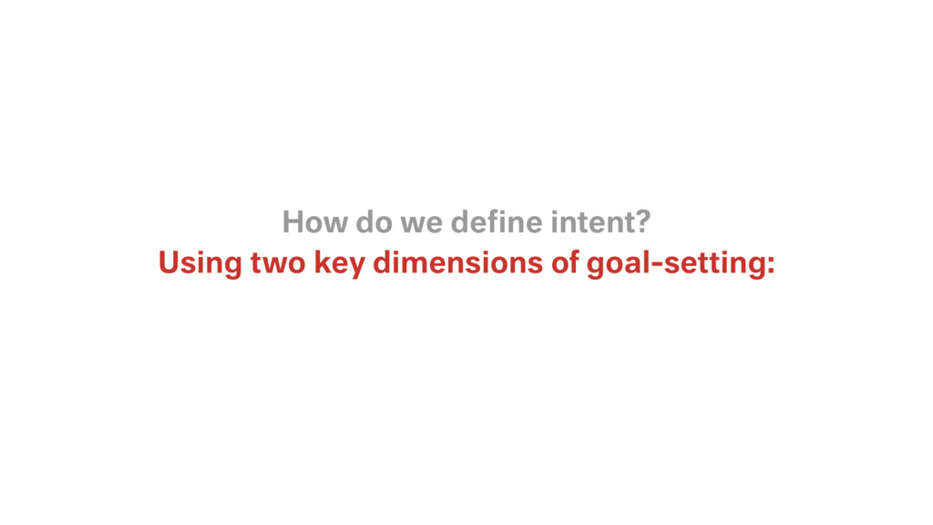 Using two key dimensions of goal-setting: How d...