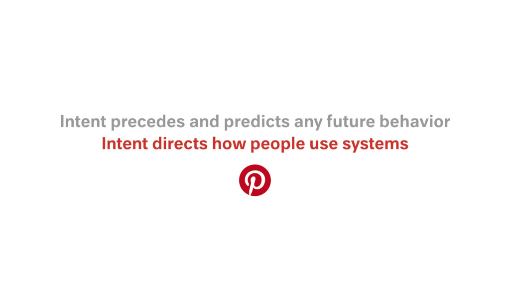 Intent directs how people use systems Intent pr...