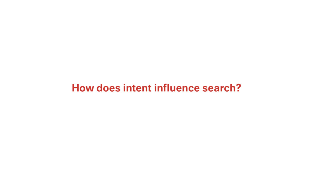 How does intent influence search?