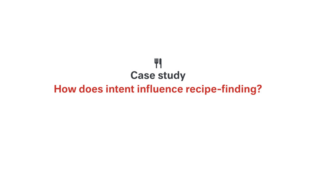 How does intent influence recipe-finding? Case st...