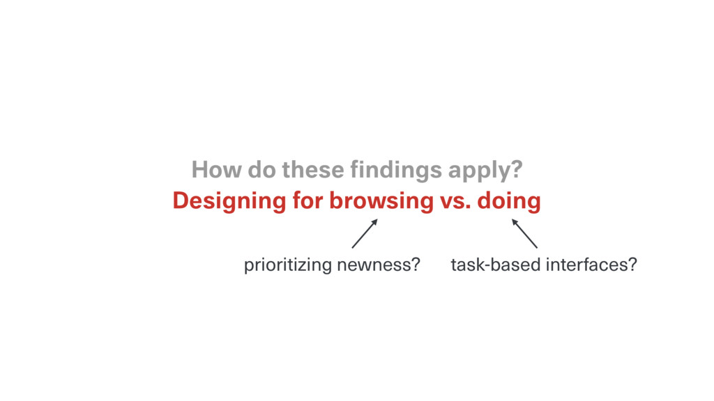 Designing for browsing vs. doing How do these fi...