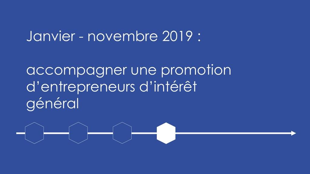 Janvier - novembre 2019 : accompagner une promo...