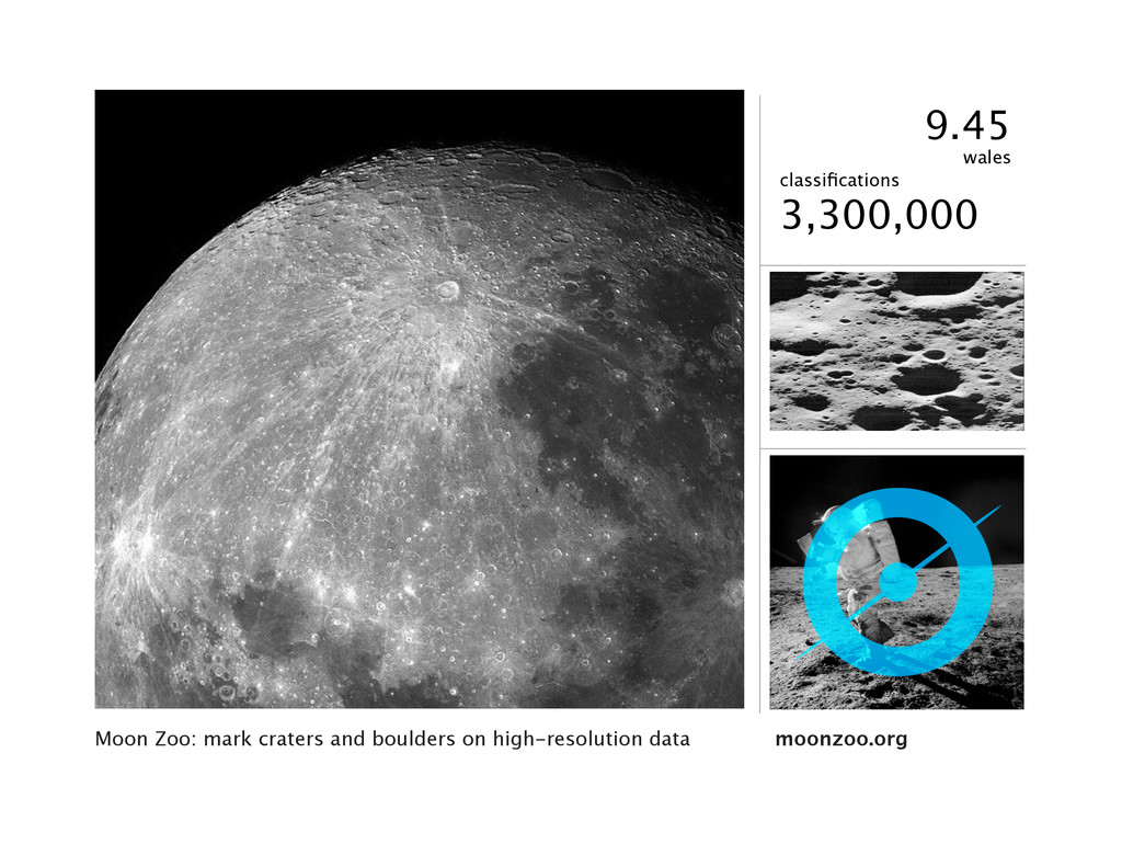 Moon Zoo: mark craters and boulders on high-res...