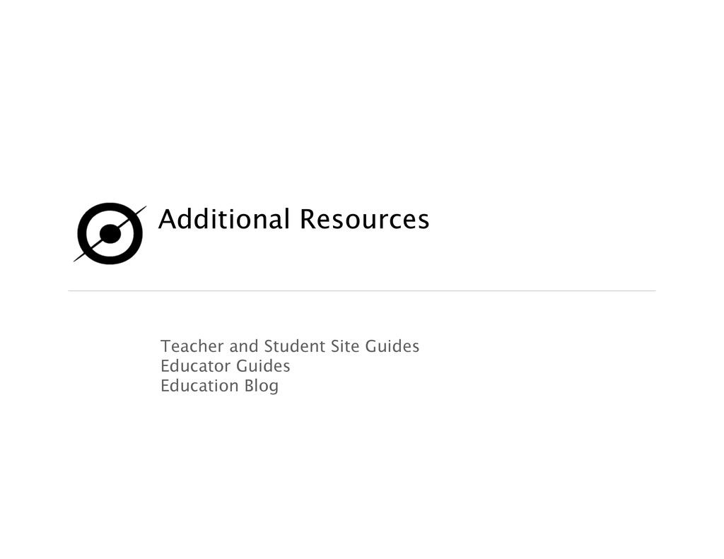 Additional Resources Teacher and Student Site ...