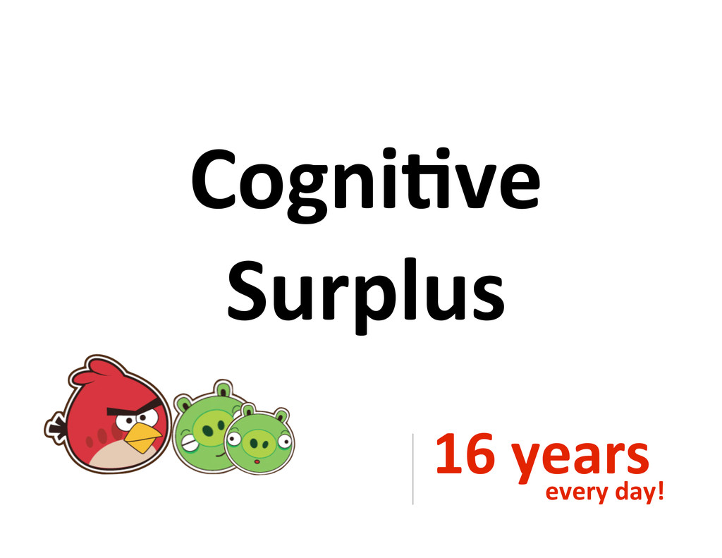 Cogni&ve Surplus 16#years every#day!